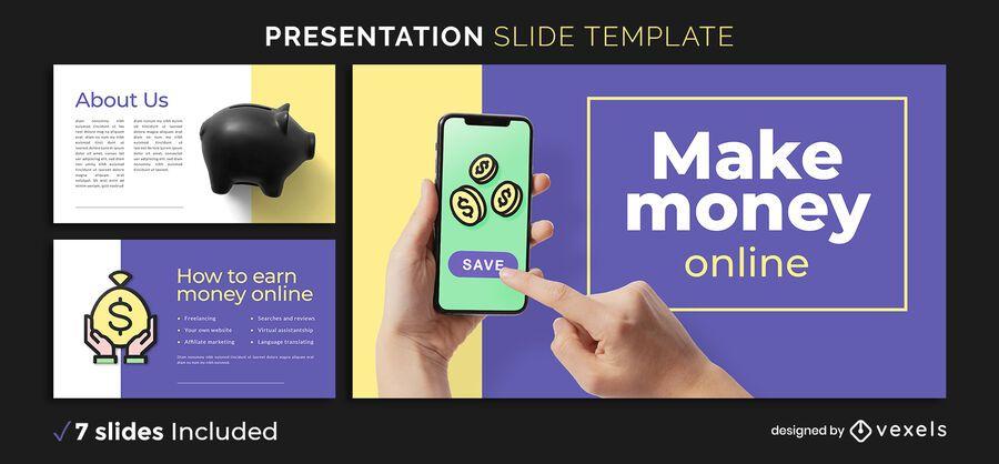 Make money online presentation template