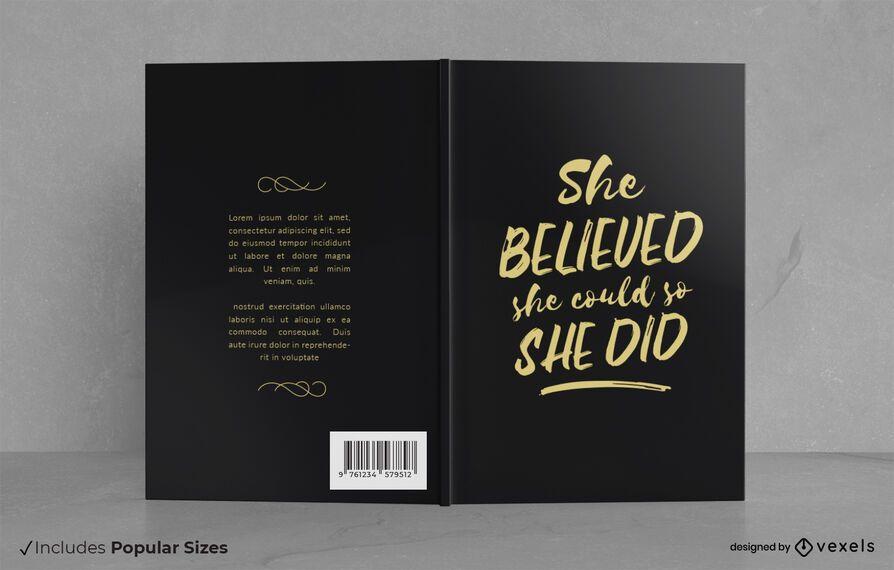 Ela acreditava no design de capa de livro