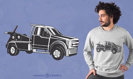 Diseño de camiseta de camión de remolque.