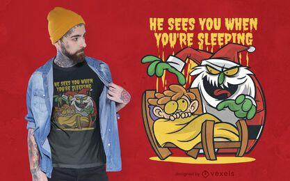 Creepy santa t-shirt design