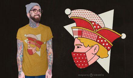 Narrenkappe Mann T-Shirt Design