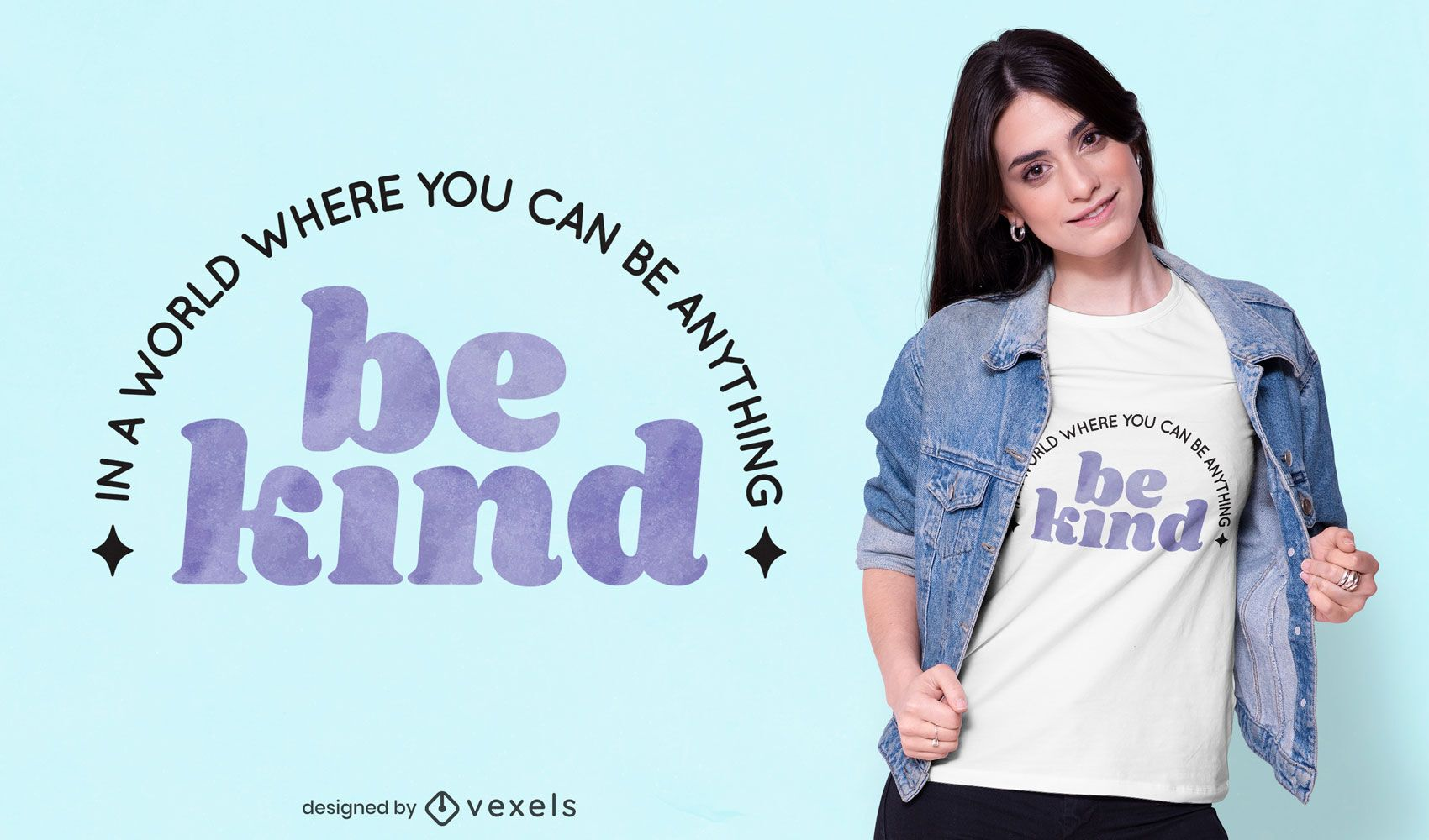 Be kind quote t-shirt design