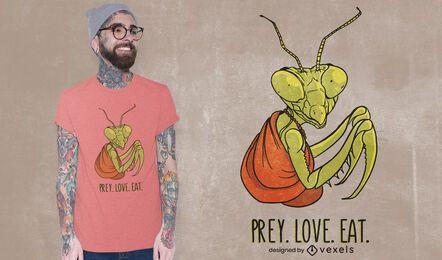 Beute Liebe essen T-Shirt Design