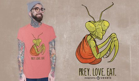 Prey love eat t-shirt design
