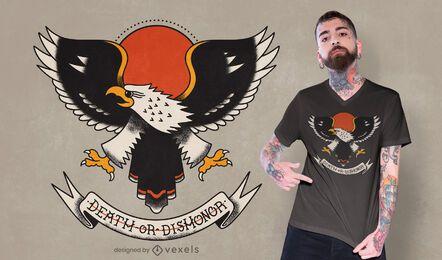 Desenho de t-shirt com tatuagem de águia