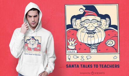Design de camiseta do Papai Noel para videochamada