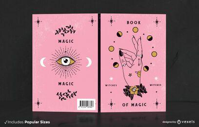 Design de capa de livro mágico