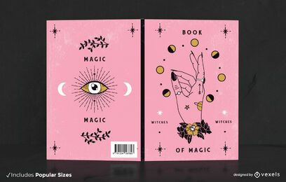 Diseño de portada de libro mágico