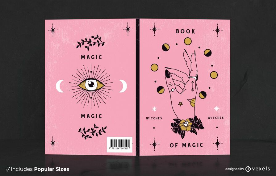 Magical book cover design