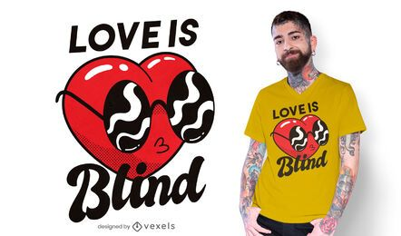 Blind heart t-shirt design