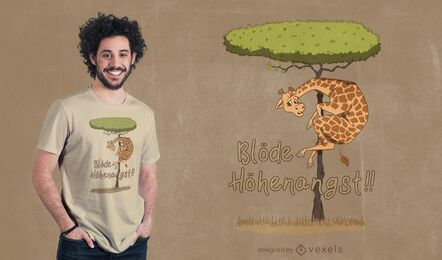 Design de camisetas Medo de alturas