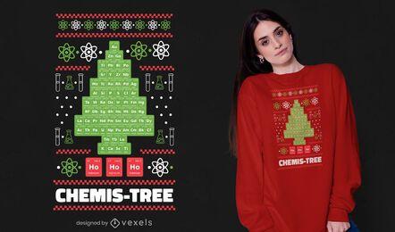 Diseño de camiseta de árbol de Chemis