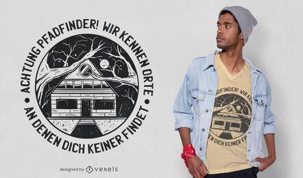 Design de camiseta de citação alemã de escuteiros
