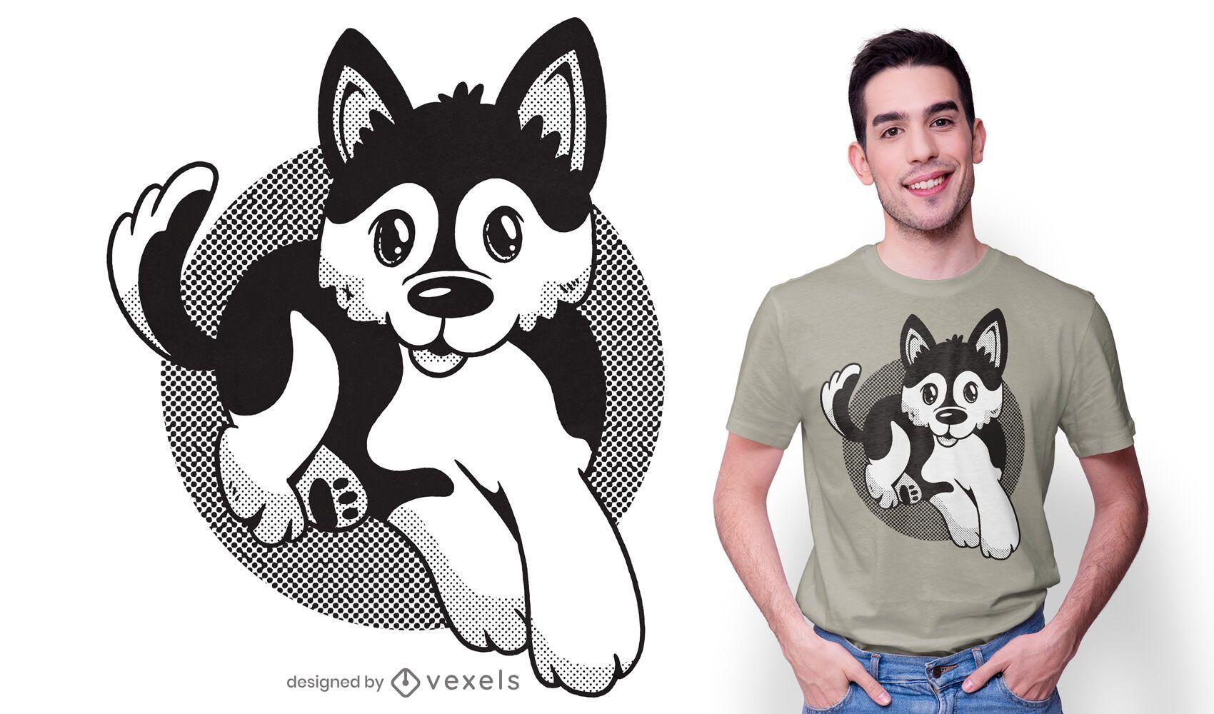 Pomsky dog t-shirt design