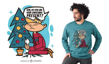 Design engraçado de camiseta para presente de natal