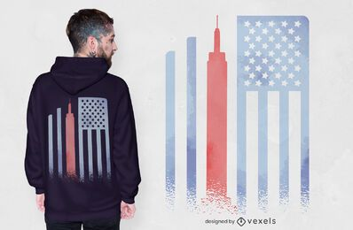 Design de camisetas com a bandeira do Empire State
