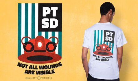 Diseño de camiseta de conciencia de PTSD