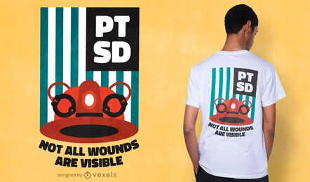 PTSD awareness t-shirt design