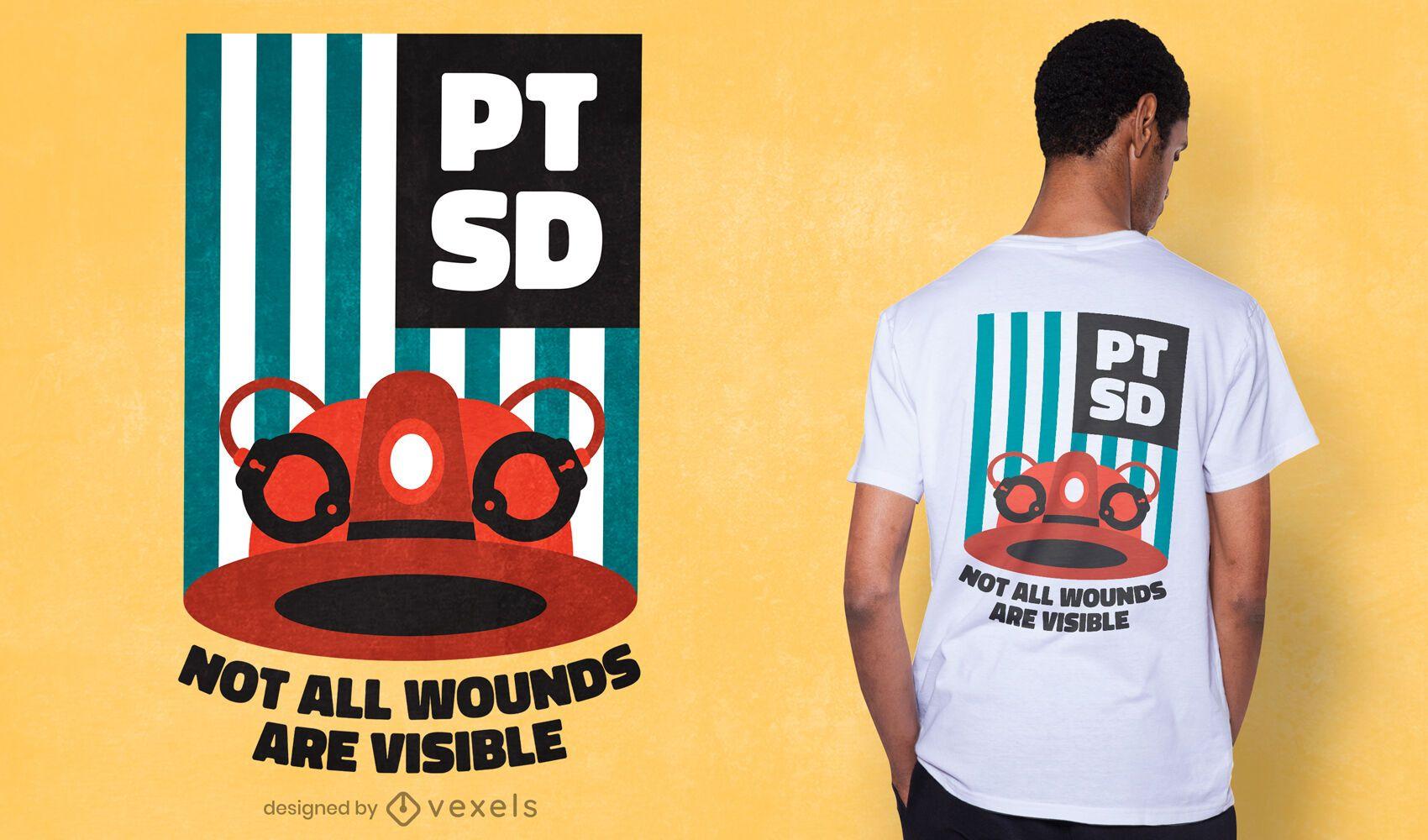 PTSD awareness t-shirt design