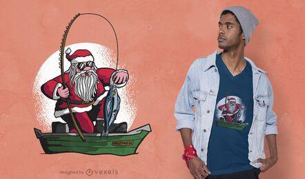 Fischen Santa T-Shirt Design
