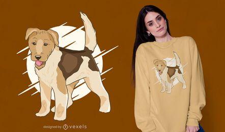 Diseño de camiseta de perro fox terrier