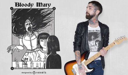 Diseño de camiseta bloody mary