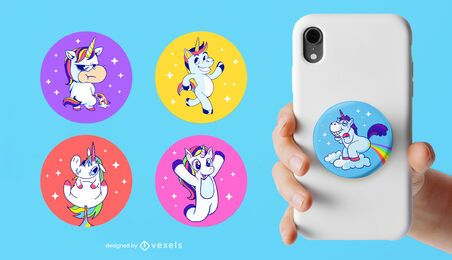 Unicorn popsocket set