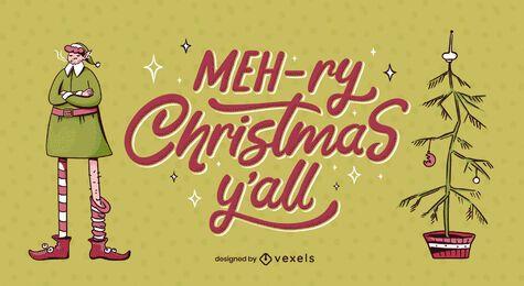Diseño de letras navideñas mehry