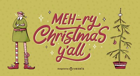 Mehry christmas lettering design