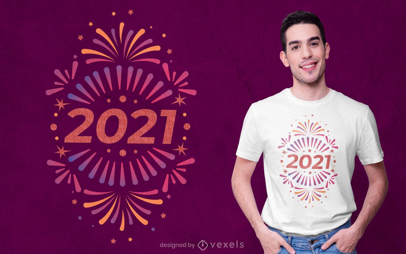 New year 2021 t-shirt design