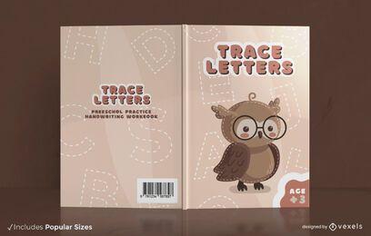 Diseño de portada de libro de práctica de escritura a mano