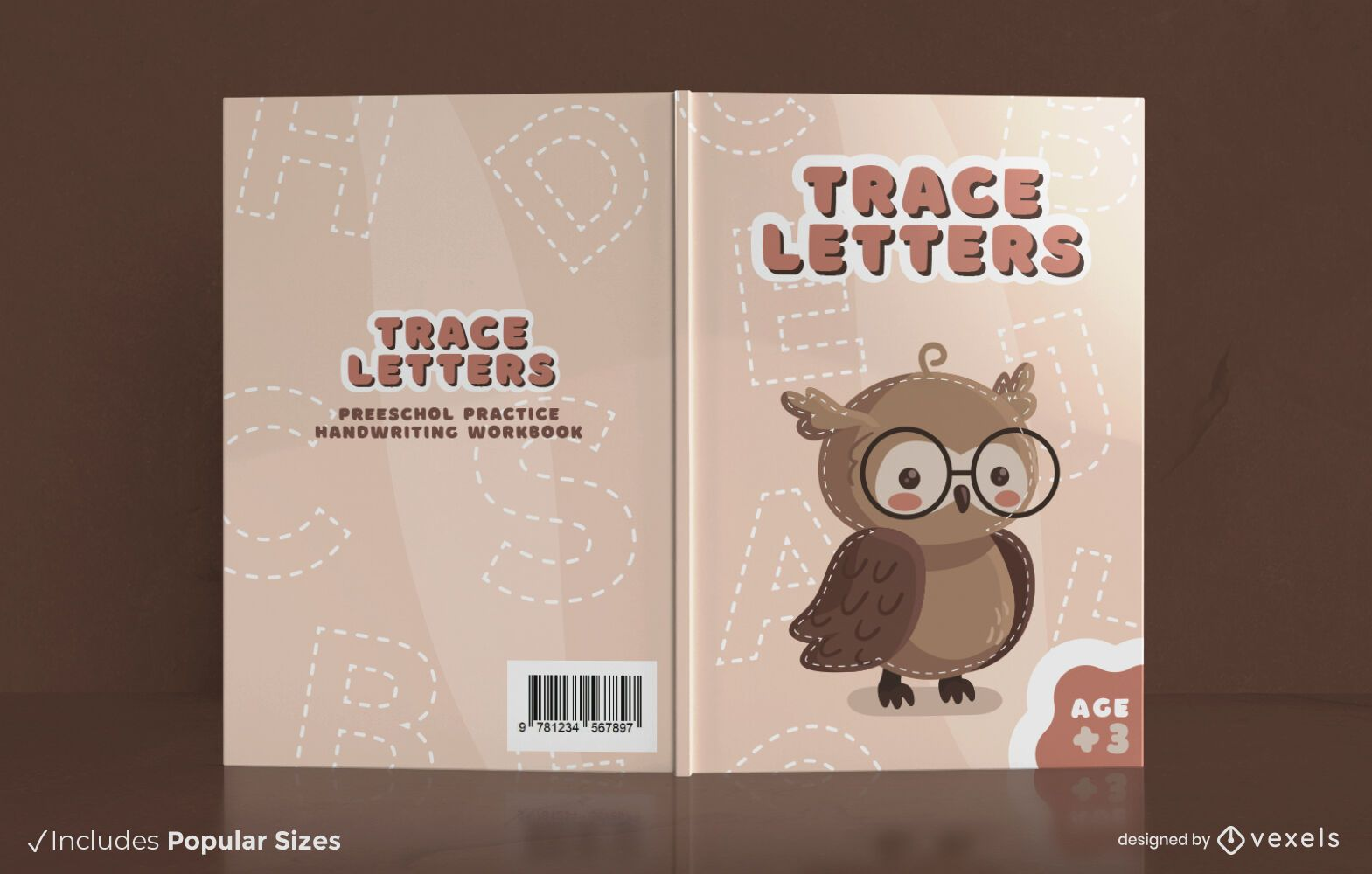 Handwriting practice book cover design