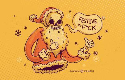 Diseño de ilustración anti navidad