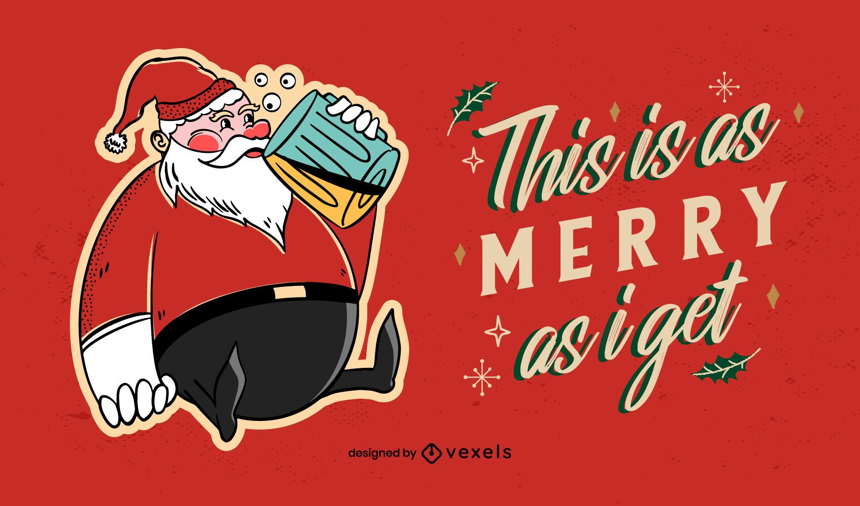 As merry as i get illustration design