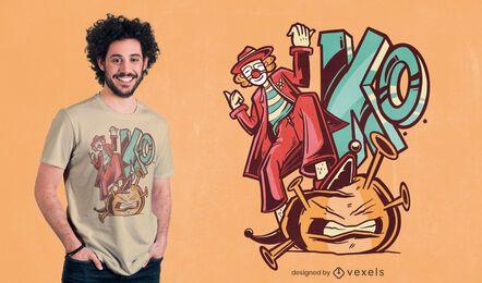 Clown killing covid t-shirt design