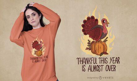 Diseño de camiseta anti cita de acción de gracias