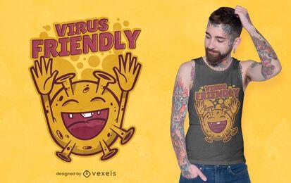 Diseño de camiseta amigable con virus