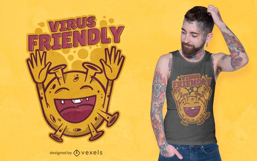 Virus friendly t-shirt design