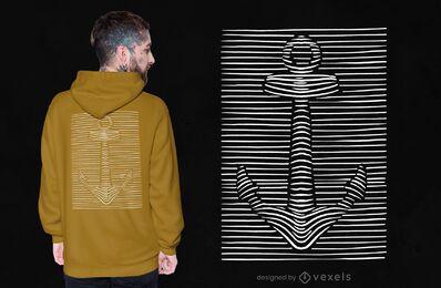 Design de camiseta âncora 3D