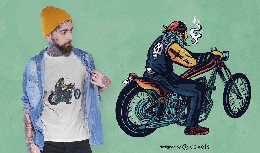 Design de t-shirt Chopper Rider