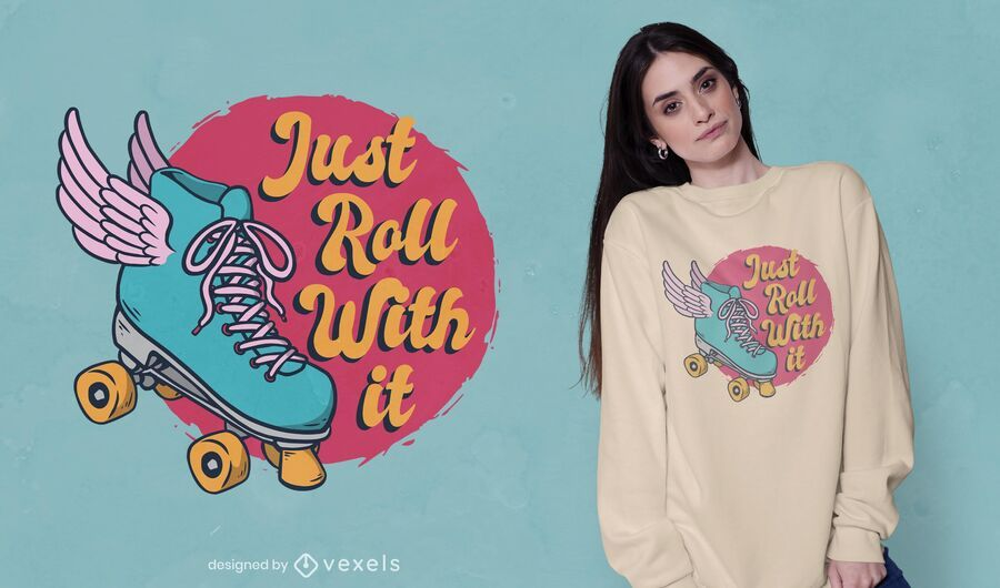 Diseño de camiseta Just Roll