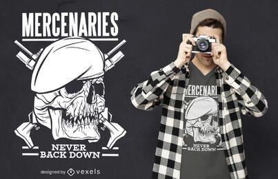 Diseño de camiseta de mercenarios