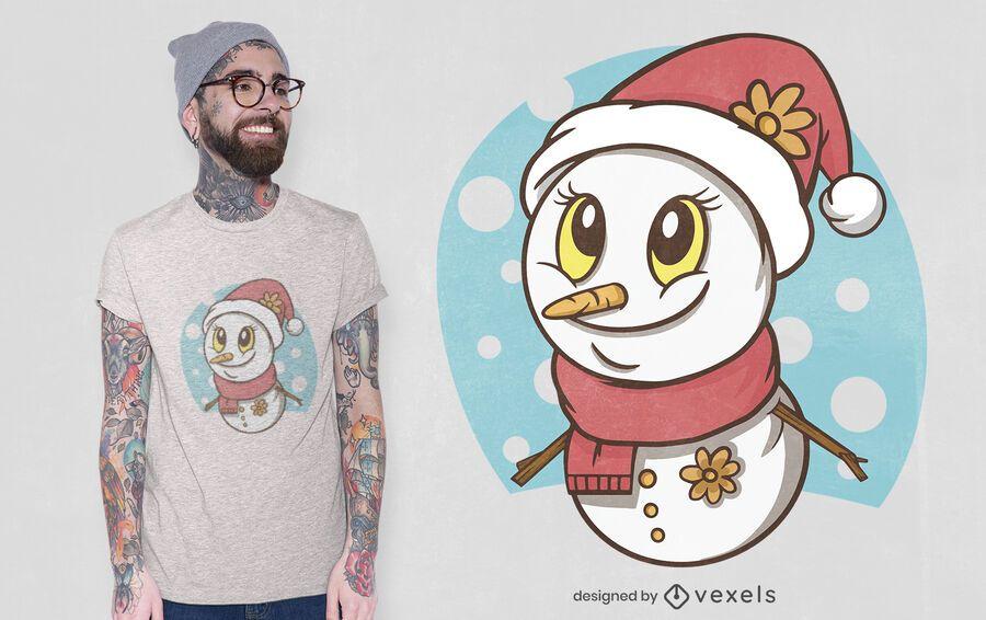 Cute snowman t-shirt design