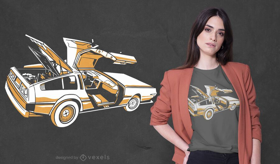 Sports car t-shirt design