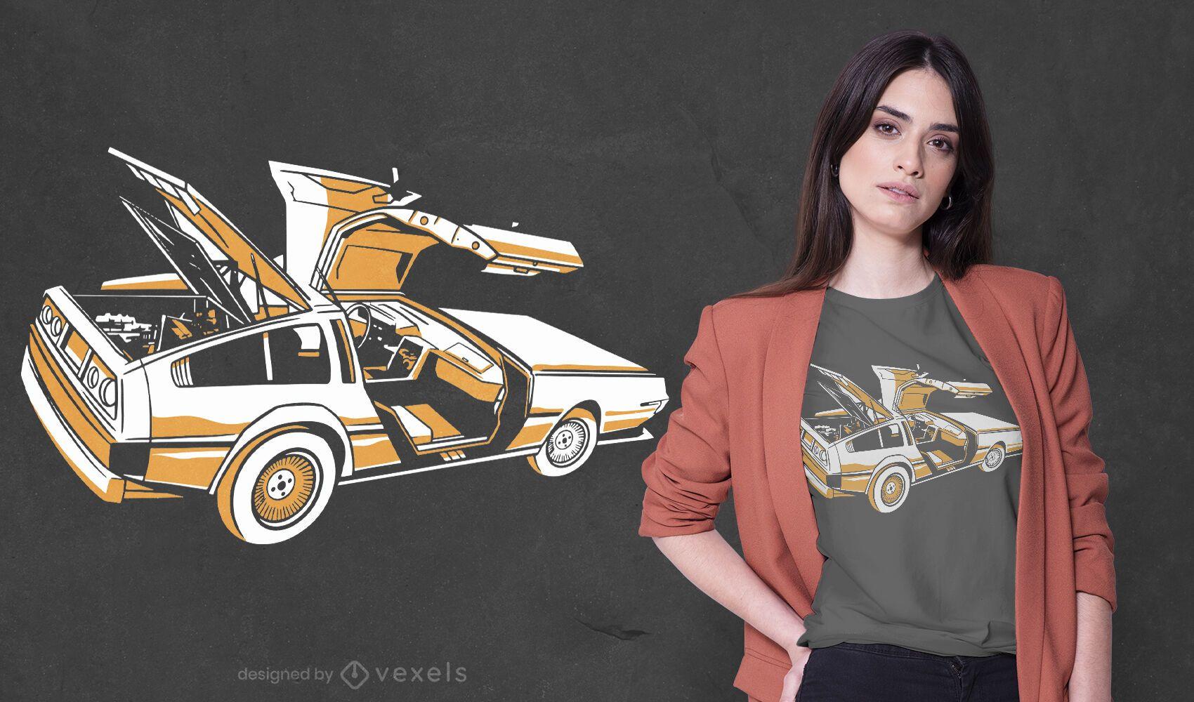Sports car t-shirt design