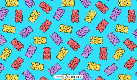 Gummy bears pattern design