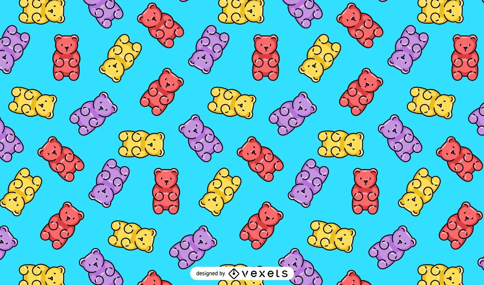 Diseño de patrón de ositos de goma