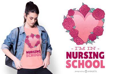 Diseño de camiseta de la escuela de enfermería.