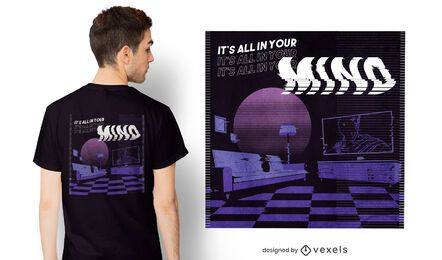 All in your mind vaporwave t-shirt design