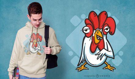 Design de camisetas com dentes de frango